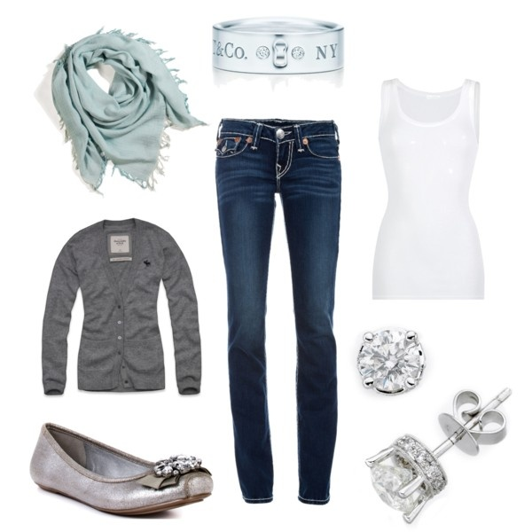 A simple and classic look I created: Simple Outfit, Style Self, Grey Sweater, Http Fashion881 Blogspot Com, Gray Classic, Classic Looks, My Style