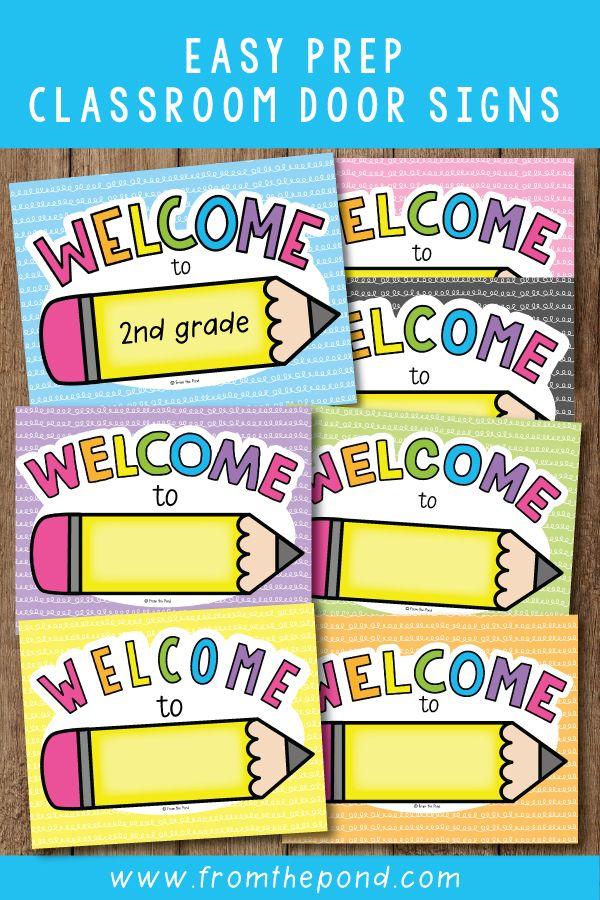 Welcome Sign For Classroom Door : welcome, classroom, Classroom, Display, Printable, Signs,, Welcome