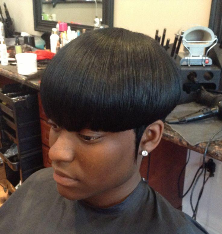 Mushroom Hairstyle rihanna short mushroom cut hairstyles with highlight Mushroom Bob