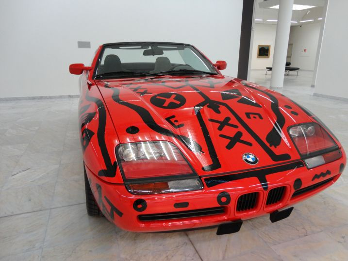 The BMW Z1 (1991), by A.R. Penck http://northernfjords.com/2012/10/01/the-stavanger-art-museum-cars-and-paintings/