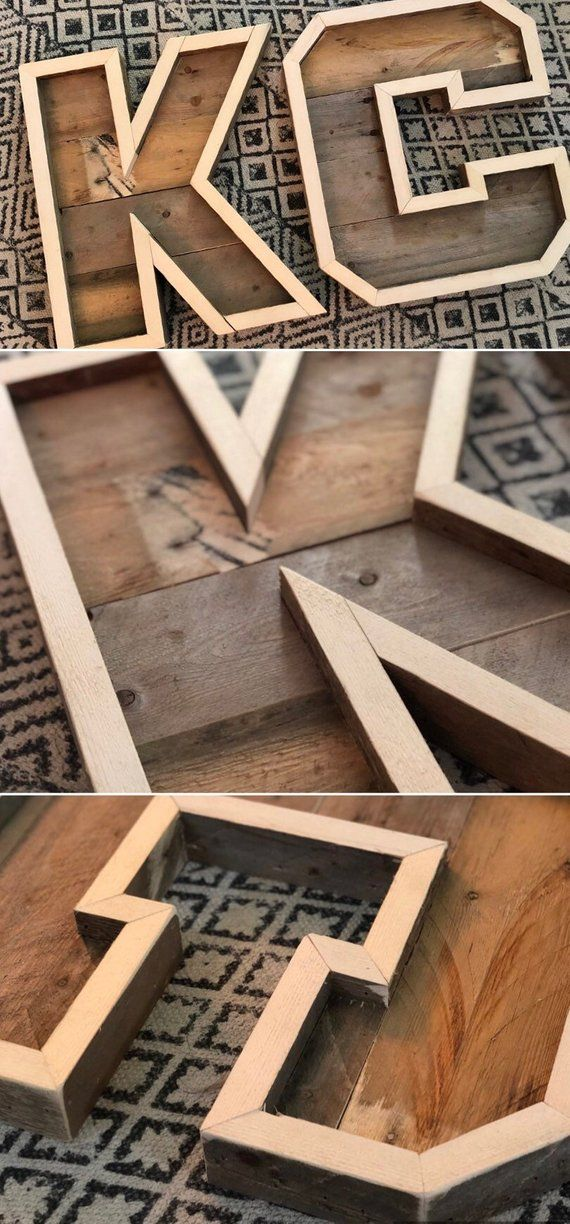 Rustic Marquee Letters Made From Reclaimed Pallets Letters A Z Available Capital Letters Only Letters Are A Pallet Letters Diy Pallet Projects Pallet Diy