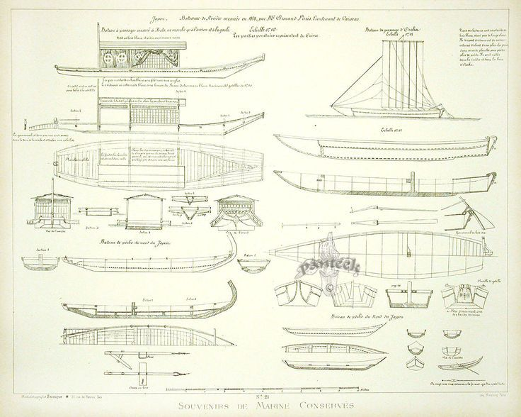 Paris Marine Museum Ship Plans 1882
