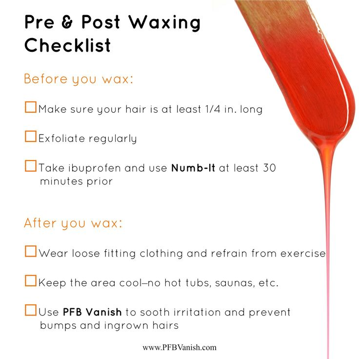 Pre and post waxing tips!