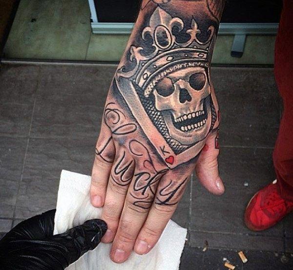 Don T Ignore These Tips Tattoodesignsmen Hand Tattoos For Guys Crown Tattoo Men Skull Hand Tattoo
