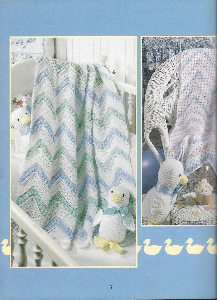 🍼 Ao longo dos Afegãos do Bebê do Arco-íris malha itens decorativos Criações -  /  🍼 Over The Rainbow Baby Afghans  Knit Knacks Creations -