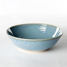 Dorthe Hansen Keramik, suppeskål i farverne dunkelgrå, daggrå, lys syren og havblå