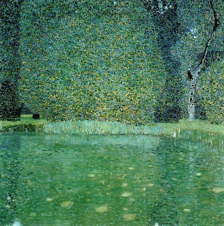 "bildwerk:  Gustav Klimt ""Pond at Schloss Kammer on the Attersee"", 1909, Private collection"