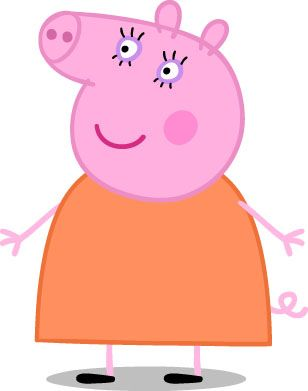 Popular Characters from Peppa Pig: Mummy Pig