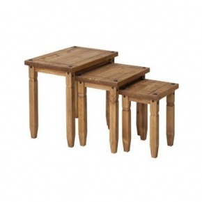 Corona Mexican Pine Nest of Tables CR907   www.easyfurn.co.uk