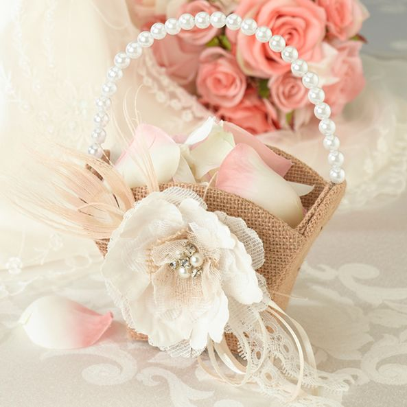 Pretty flower basket perfect for my wedding.