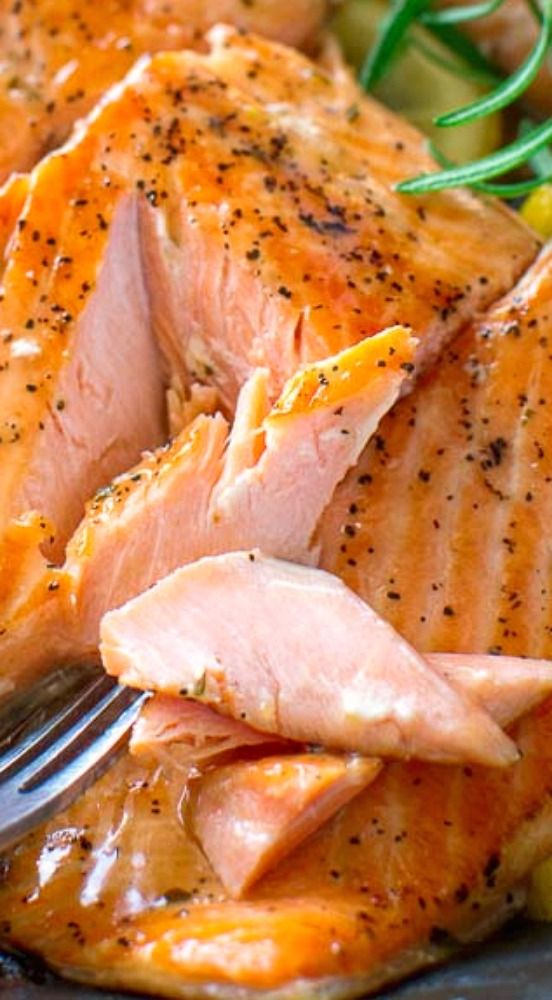 Lemon Rosemary Salmon #Skinny4LifeEats™