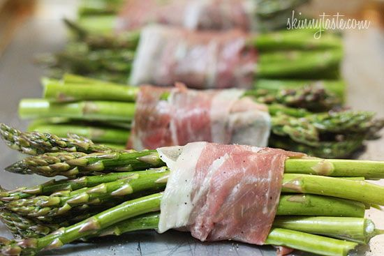1 bundle =2Roasted Prosciutto Wrapped Asparagus Bundles | Skinnytaste