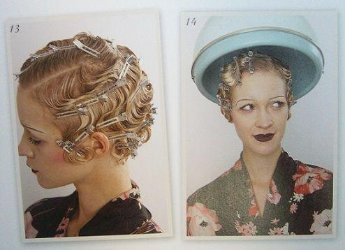 Tutoriel et inspirations carré boucles crantées, coiffure rétro, vintage, années 20-30 #Hairstyle