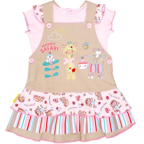 Safari Pinafore Dress Set