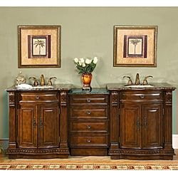 Picture Gallery For Website Shop for Silkroad Exclusive Stone Counter Top inch Double Sink Bathroom Vanity Get