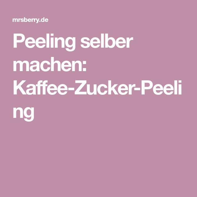 Peeling selber machen: Kaffee-Zucker-Peeling