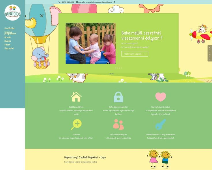 napraforgonapkozi.hu weboldal - Bitmami - weboldal készítés