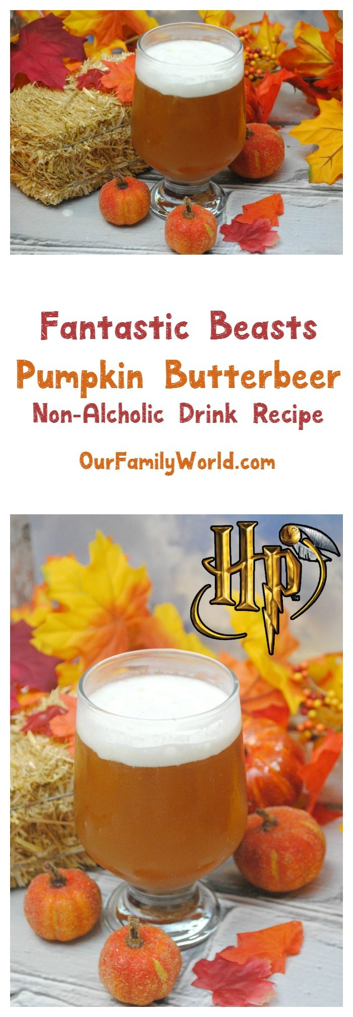 Planning a Fantastic Beasts and Where to Find Them Movie Party? Don't forget the nonalcoholic drinks, like our yummy pumpkin butterbeer! Perfect for a Harry Potter party too!
