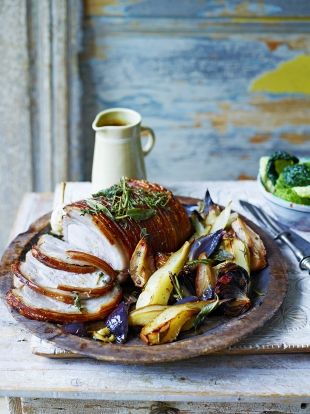 Pear-roasted pork loin joint | Jamie Magazine | Edition 62