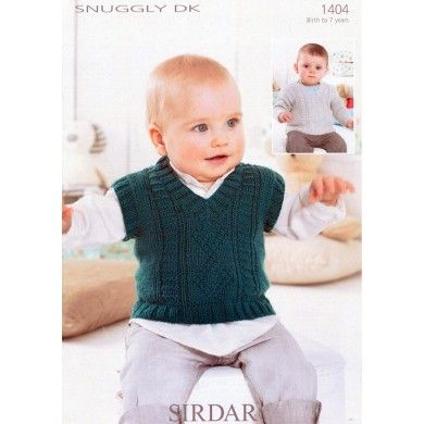 Tank and Sweater in Sirdar Snuggly DK - 1404