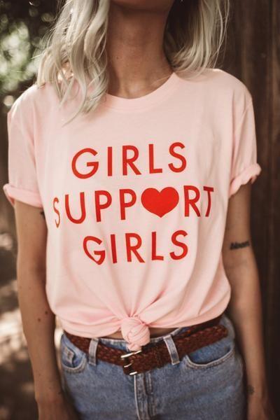 Girls Support Girls Tee - Pink – Daisy Natives