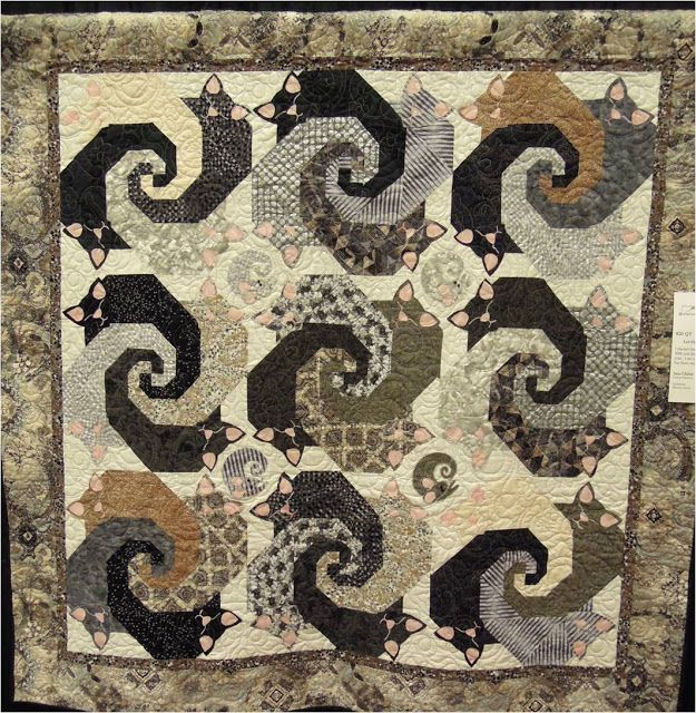 Snail S Trail Cat Quilt Pattern