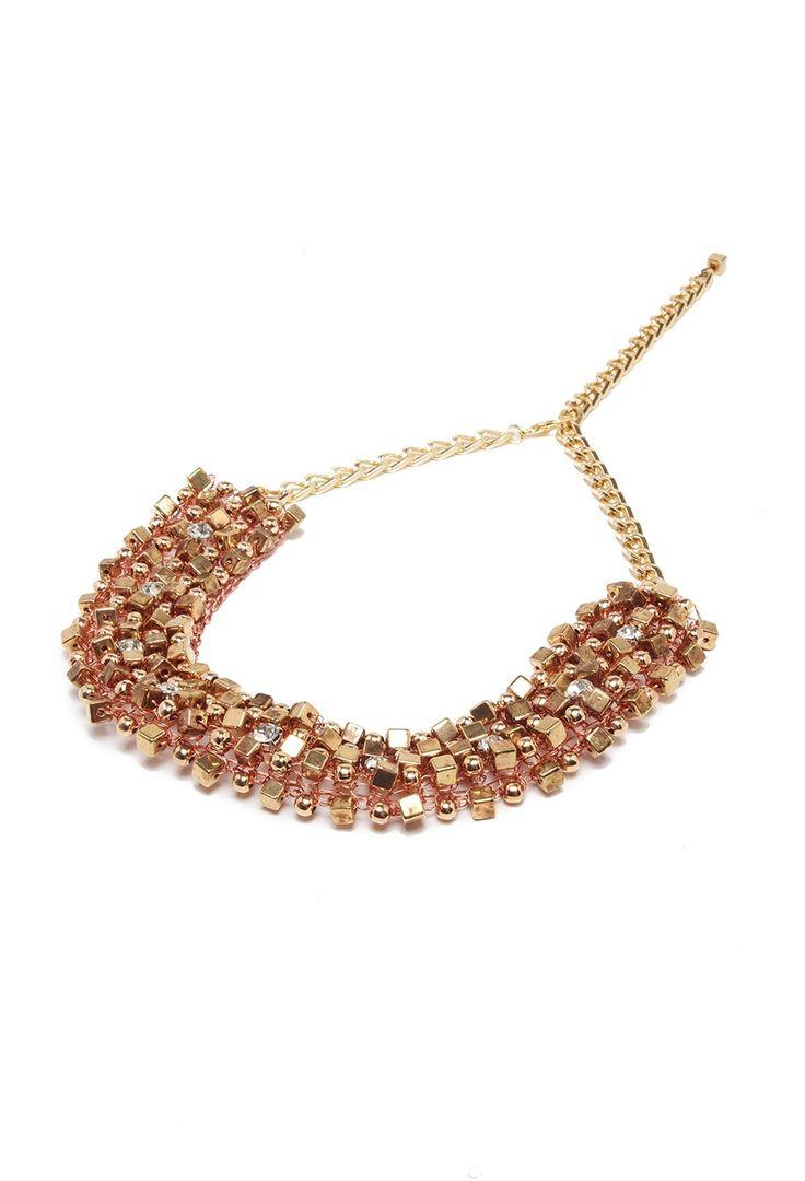 Las Penelope - Collar Naturaleza Geometric Glam dorado