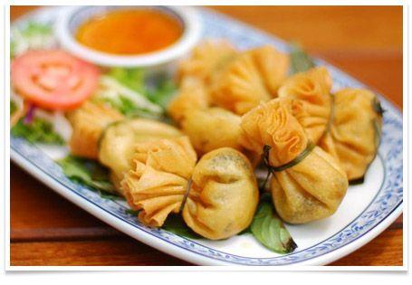 Thai Gold Bag (Toong Tong) | Thai Dishes » Thai food Recipes Thai Cuisine thai restaurant free ...