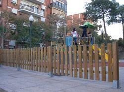 valla de madera fustal
