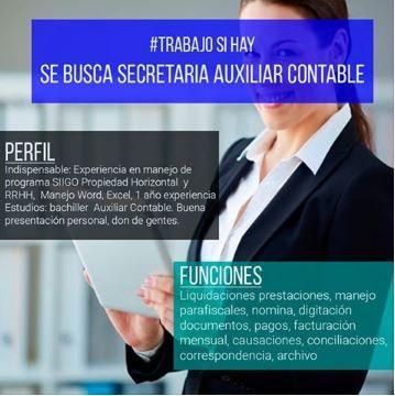 Buenos días Bogotá si estas interesada y cumples con el perfil envía tu hoja de vida a cmsph17@gmail.com  Revisa más ofertas disponibles para ti y aplica a la que más se ajuste a tu perfil http://bit.ly/23q9Id1