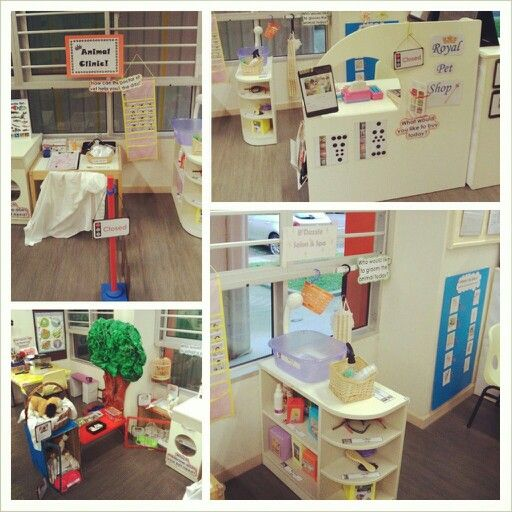 Pretend Play Corner - Pet Shop and Pets Corner. Area include Grooming Area, Pet Shop, Vet and Pet Corner.