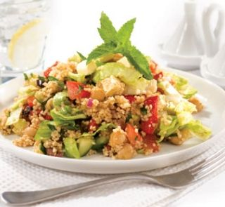 Couscous and chickpea salad with orange-balsamic dressing   Healthy Food Guide