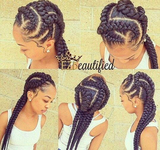 Braided Hairstyles For Black Women french braids more Ghana Braids Ghana Braids With Updo Straight Up Braids Braids Hairstyles For Black