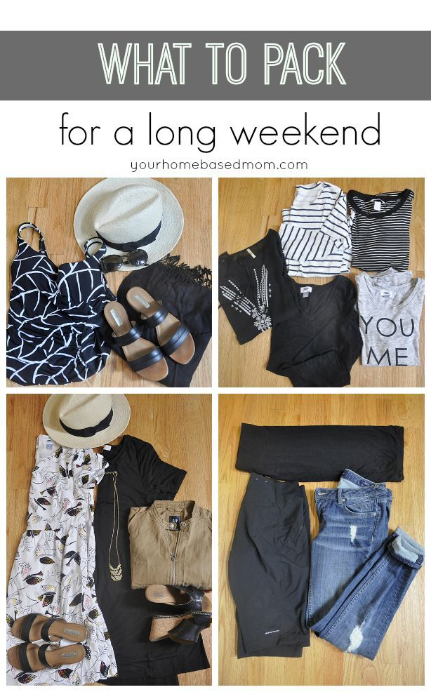 What to Pack for a Long Weekend! Great tips for travel!
