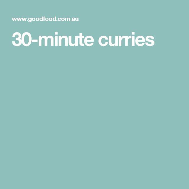 30-minute curries
