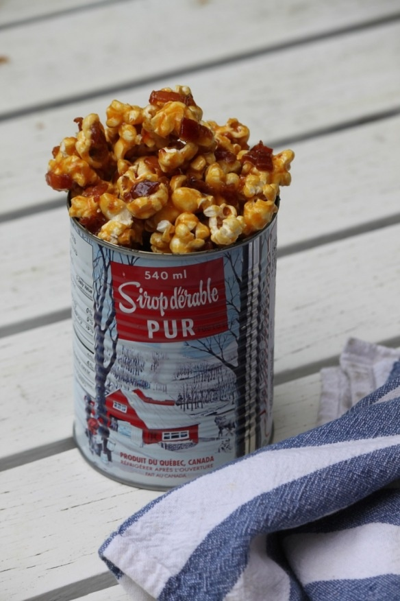 Popcorn With Bacon Fat, Bacon, And Maple Syrup Recipe — Dishmaps