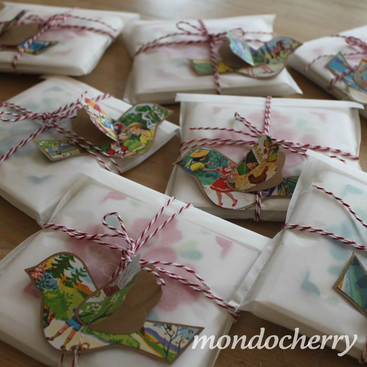 Cute - Parchment and Bird tags