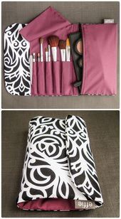 Perfumery, cosmetics, beauty and more in the online shop: Amazon.de Makeup Travel Bag – Black and White Scroll – effie …