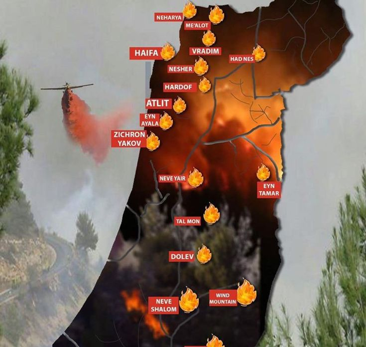 Terrorist Launch Arson Intifada Across Israel (11/24/2016) (Over the last day, 220 fires have broken out. Arrests have been made)