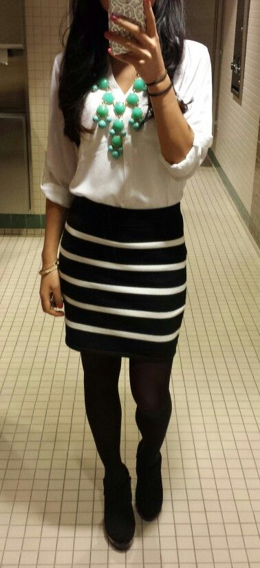 Business casual :) statement necklace