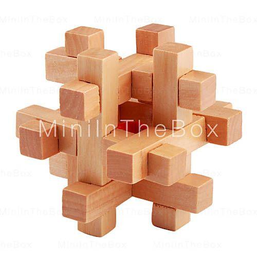bead-in-gabbia di legno di puzzle rompicapo iq giocattolo