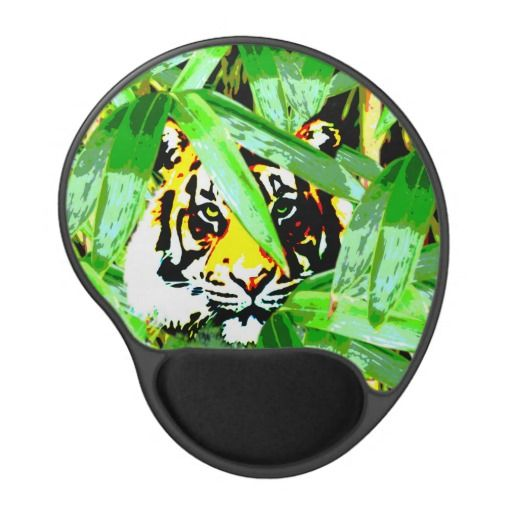 Tiger In The Bamboo Forest Gel Mouse Pad Gel Mouse Pad This mouse pad features a tiger peaking through the leaves in the bamboo forest. http://www.zazzle.com.au/tiger_in_the_bamboo_forest_gel_mouse_pad_gel_mousepad-159861754891167938?rf=238523064604734277