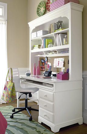 The 25 best White desk with hutch ideas on Pinterest White