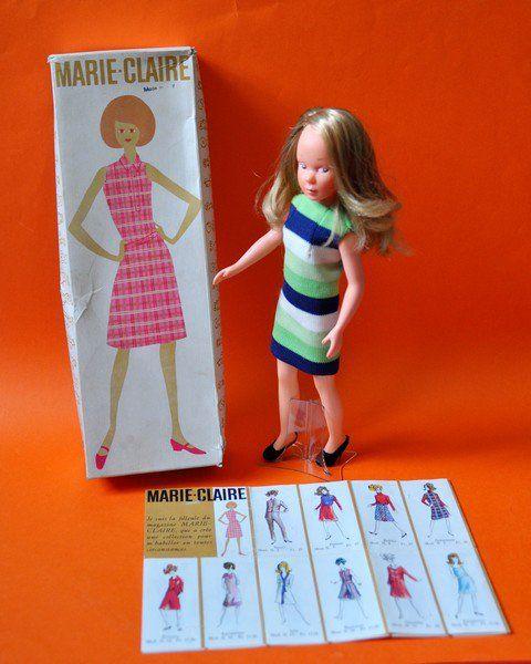 suite article poupée Marie-Claire d'Italocrémona 1965 1er modèle