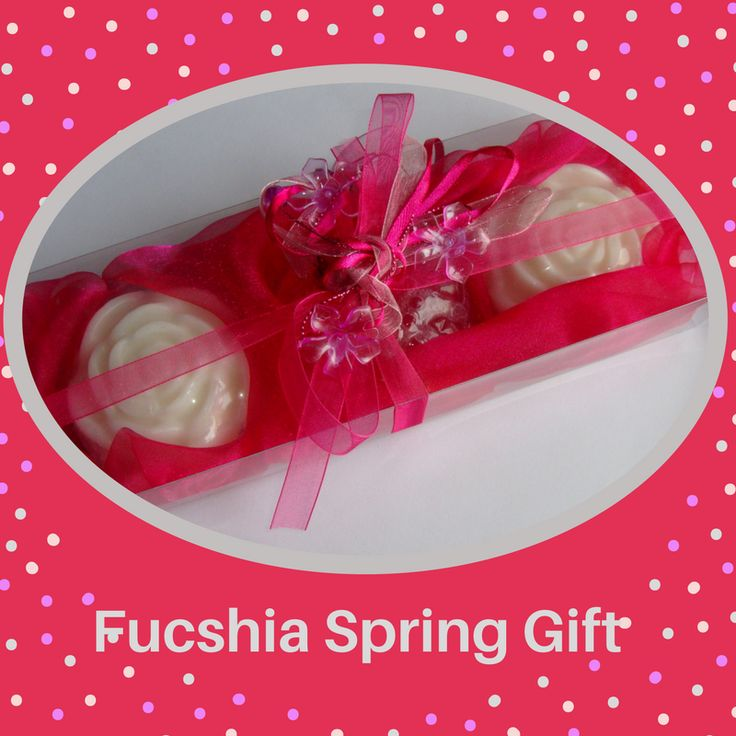 Fucshia Gift Set for Her with Handmade Luxury Scented Soaps. Spring Shopping. Unique as Graduation Gift - A very elegant, stylish gift for any occasion: Mother's Day, Valentine's Day, Anniversary, Feast, Engagement, Birthday, Retirement, any Celebration, any Ceremony, Party… you name it!