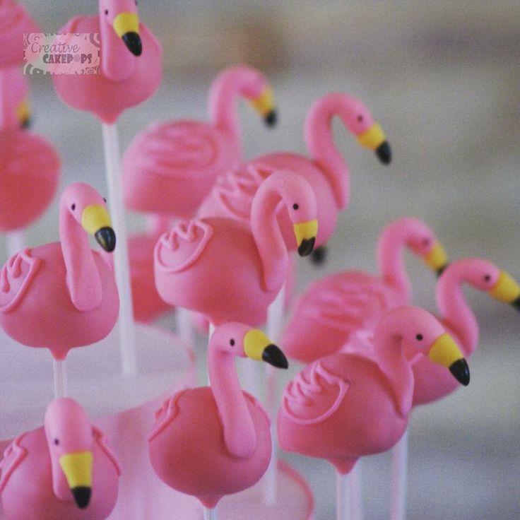 Flamingo cake pops // cakepops de flamencos