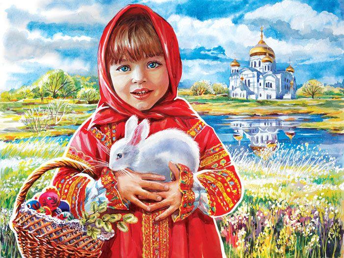Ирина Краснодар, Россия. Сообщество иллюстраторов   Иллюстрация Пасха. Пейзаж..