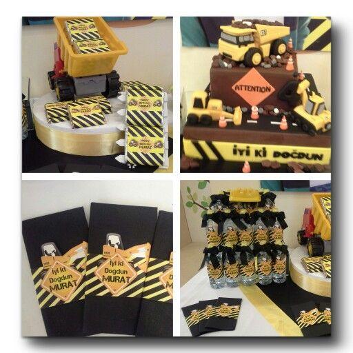 İnşaat temalı Doğumgünü pastası , construction theme birthdayparty