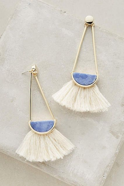 Pendants d'oreilles à franges Ouvea - anthropologie.com