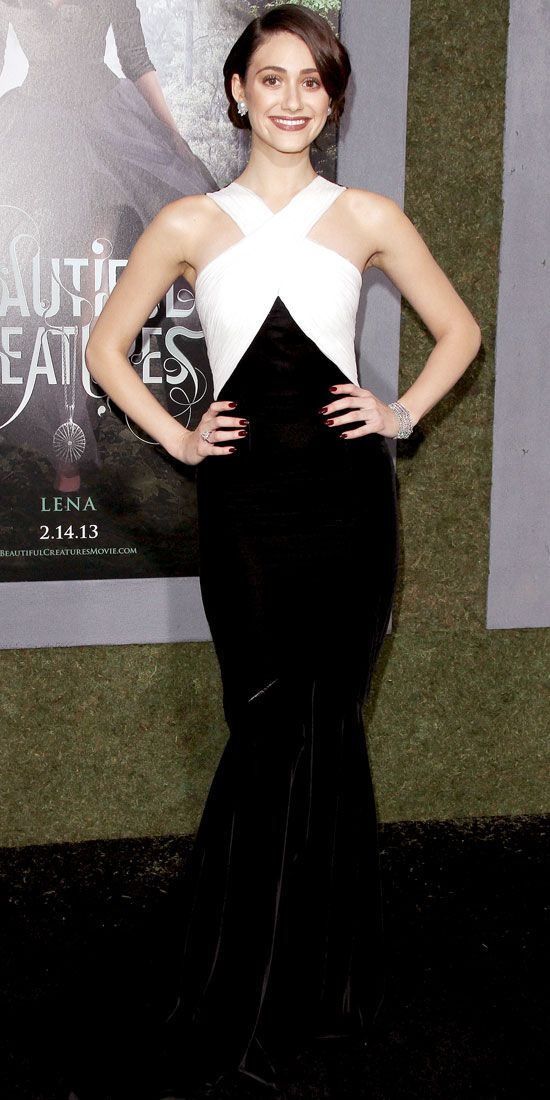 """Emmy Rossum in Andrew Gn (2013 L.A. premiere of """"Beautiful Creatures"""")"""